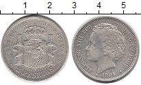 Изображение Монеты Испания 2 песеты 1894 Серебро XF