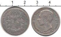 Изображение Монеты Испания 1 песета 1876 Серебро XF Альфонсо XII
