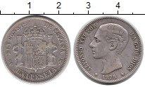 Изображение Монеты Испания 1 песета 1876 Серебро XF