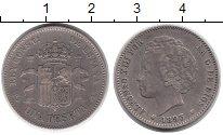 Изображение Монеты Европа Испания 1 песета 1893 Серебро XF