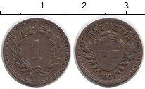 Изображение Монеты Европа Швейцария 1 рапп 1853 Медь XF