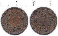 Изображение Монеты Швейцария 1 рапп 1889 Медь XF