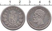 Изображение Монеты Европа Норвегия 1 крона 1877 Серебро XF