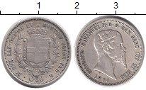 Изображение Монеты Италия 50 сентесим 1860 Серебро XF