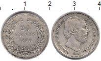 Изображение Монеты Европа Нидерланды 25 центов 1890 Серебро XF