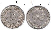 Изображение Монеты Европа Нидерланды 10 центов 1889 Серебро XF