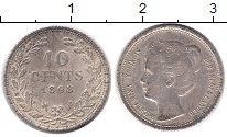Изображение Монеты Нидерланды 10 центов 1898 Серебро XF