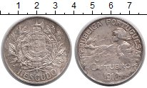 Изображение Монеты Европа Португалия 1 эскудо 1910 Серебро XF