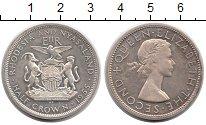Изображение Монеты Великобритания Родезия 1/2 кроны 1955 Серебро XF