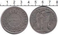 Изображение Монеты Франция 6 ливров 1793 Серебро XF