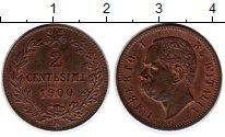 Изображение Монеты Европа Италия 2 чентезимо 1900 Медь XF