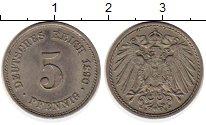 Изображение Монеты Европа Германия 5 пфеннигов 1890 Медно-никель XF