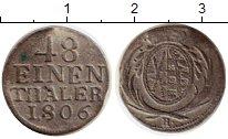 Изображение Монеты Германия Саксония 1/48 талера 1806 Серебро VF