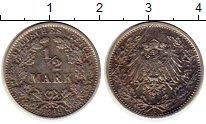 Изображение Монеты Европа Германия 1/2 марки 1919 Серебро VF