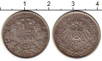 Изображение Монеты Европа Германия 1/2 марки 1919 Серебро XF