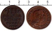 Изображение Монеты Германия Гессен-Кассель 3 геллера 1726 Медь VF