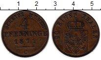 Изображение Монеты Германия Пруссия 4 пфеннига 1871 Медь XF