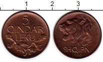 Изображение Монеты Европа Албания 5 киндарка 1926 Медь XF
