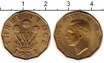 Изображение Монеты Европа Великобритания 3 пенса 1937 Латунь XF