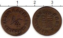 Изображение Монеты Саксен-Майнинген 1/4 крейцера 1831 Медь VF