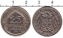Изображение Монеты Европа Германия 25 пфеннигов 1910 Медно-никель XF