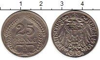 Изображение Монеты Германия 25 пфеннигов 1910 Медно-никель XF D