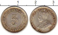 Изображение Монеты Великобритания Стрейтс-Сеттльмент 5 центов 1926 Серебро VF