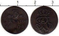 Изображение Монеты Пруссия 3 пфеннига 1804 Медь VF Фридрих Вильгельм II