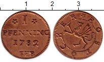 Изображение Монеты Росток 1 пфенниг 1782 Медь XF Герб Ростока