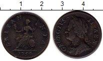 Изображение Монеты Европа Великобритания 1 фартинг 1754 Медь XF