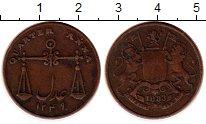 Изображение Монеты Индия 1/4 анны 1833 Медь XF Весы