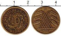 Изображение Монеты Веймарская республика 10 пфеннигов 1929 Латунь VF