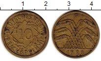 Изображение Монеты Веймарская республика 10 пфеннигов 1929 Латунь XF G