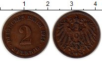 Изображение Монеты Европа Германия 2 пфеннига 1914 Медь XF