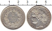 Изображение Монеты Европа Франция 2 франка 1881 Серебро XF