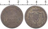 Изображение Монеты Германия Рейсс-Оберграйц 1/6 талера 1808 Серебро VF