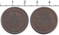 Изображение Монеты Германия Баден 1/2 крейцера 1804 Медь VF