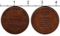 Изображение Монеты Германия Саксен-Майнинген 2 пфеннига 1870 Медь XF