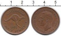 Изображение Мелочь Австралия 1/2 пенни 1951 Медь XF-