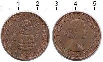 Изображение Монеты Австралия и Океания Новая Зеландия 1/2 пенни 1965 Медь XF