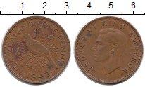 Изображение Монеты Австралия и Океания Новая Зеландия 1 пенни 1943 Медь XF
