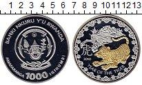 Изображение Монеты Руанда 1000 франков 2010 Серебро Proof Год тигра. 93,3 грам