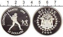 Изображение Монеты Белиз 10 долларов 1996 Серебро Proof