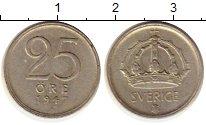 Изображение Монеты Швеция 25 эре 1947 Серебро XF
