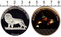 Изображение Монеты Африка Конго 10 франков 2003 Серебро Proof
