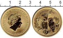 Изображение Мелочь Тувалу 1 доллар 2014 Латунь UNC