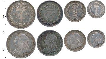 Изображение Наборы монет Великобритания Маунди-сет 1900 1901 Серебро UNC