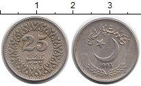 Изображение Монеты Азия Пакистан 25 пайс 1983 Медно-никель XF