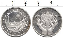 Изображение Монеты Европа Мальта 1 фунт 1979 Серебро Proof-