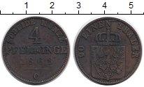 Изображение Монеты Германия Пруссия 4 пфеннига 1868 Медь UNC-
